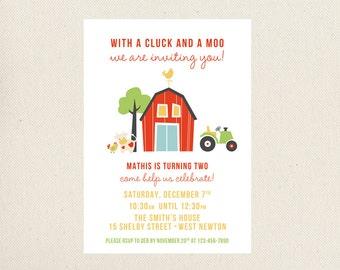 Barnyard Birthday Invitations