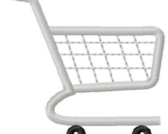 Shopping Cart Machine Embroidery Mini Design