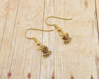 Earrings - Bees - Choose Silver or Gold