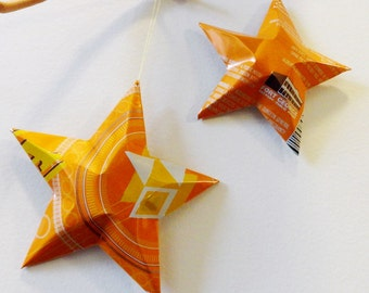 Sunrise OPA Beer Stars, Ornaments, Aluminum Can, Upcycled, Fort George Brewery