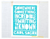 Science Quote,  Dorm Room, Classroom Decor, Nursery Art Boy, Girl Nursery Art, Carl Sagan