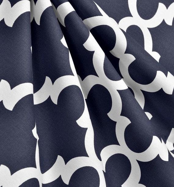 Marine bleu rideau panneaux quadrilobe par exclusiveelements for Decoration quadrilobe