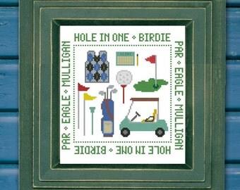 Golf Mini Sampler Cross Stitch PDF