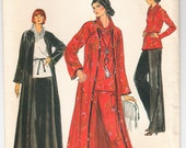 Vintage 1975 Vogue 9362 UNCUT Sewing Pattern Womens' Half Size Cardigan, Top, Skirt and Pants Size 18-1/2 Bust 41