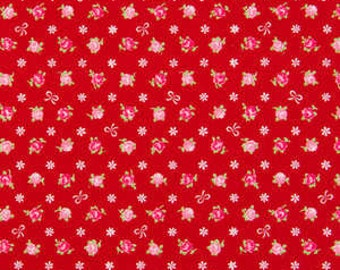 Romantic Memories  Cotton Fabric Cosmo Quilt Gate AP8787-13D Red Roses and Bows
