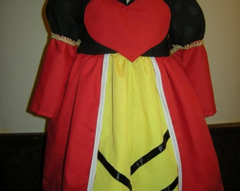 Queen of Hearts costume for  birthday/halloween/special occasions inspired by the classic  movie Alice in Wonderland characters