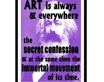 KARL MARX Quoted Art print