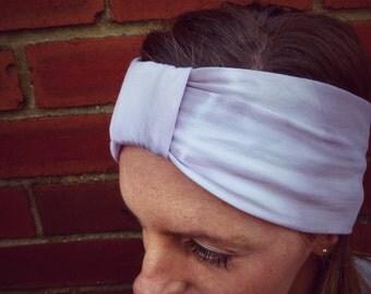 Lavender Storm Jersey Turban Headband - Womens & Girls Organic Accessory - Hand Dyed - Summer Beach Fashion - Ready to Ship