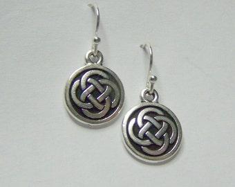 Irish Celtic Knot Earrings - Sterling Silver - Irish Jewelry - Love Knot Earrings - Irish Wedding - PAID USA SHIPPING