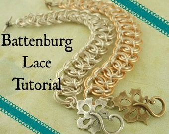 Battenburg Lace Tutorial - Instant Download pdf - Easy Fashion Chainmaille Jewelry