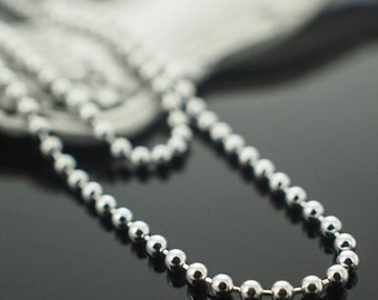 Sterling Silver Bead Chain - 1.5mm - By the Foot or Finished in Custom Lengths - Made in the USA