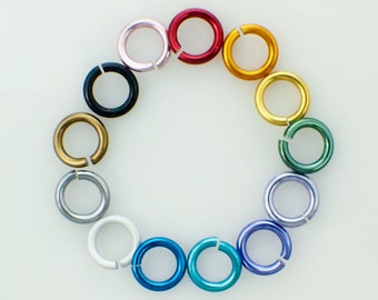 "100 SWG Economical Aluminum Jump Rings 19 gauge 5/32"", 11/64"", and 3/16"" ID"