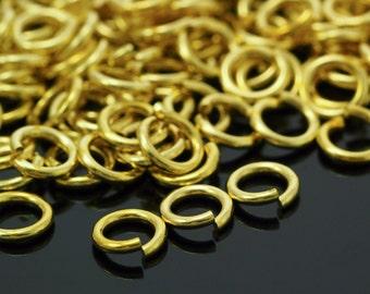 100 Handmade Yellow Brass Jump Rings - Your Choice of Gauge 10,12, 14, 16, 18, 20, 22, 24 and Diameter