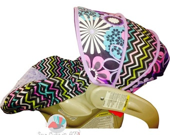 Infant Car Seat Cover Flower Shower Peony