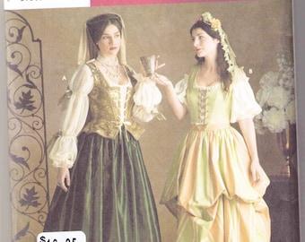 Renaissance Costume pattern Simplicity 3809 Adult sizes 4, 6, 8