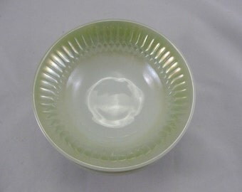 Federal Glass Moonglow Green soup or cereal bowls Set of 6