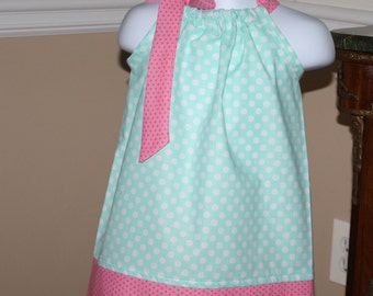 pond ice blue Pillowcase dress cute toddler easter dress, sizes 3, 6, 9, 12, 18 months, 2t, 3t, 4T