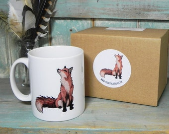 Fox Illustration Mug