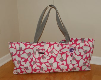 Xlarge Yoga Bag lined with felt made from recycled plastic material.-Made to Order