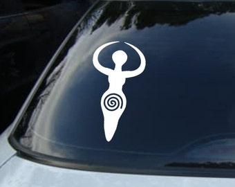 Fertility Goddess Vinyl CAR DECAL Pagan Wiccan Sticker