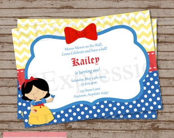 Snow White Princess Birthday Party Invitation