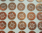 Vintage Round Flower Connectors 16mm Round Copper Flower Coin Connector Lot Of 6