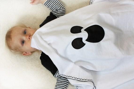 Halloween Ghost Baby Blanket, Halloween blanket, Swaddle Blanket, Halloween Flannel Blanket, security blanket, halloween baby