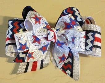 4th of July Boutique Hair Bow
