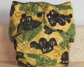 Fitted Small Cloth Diaper- 6 to 12 pounds- John Deere Tractor