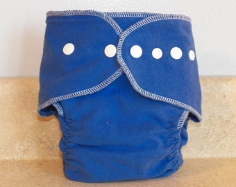 Fitted Medium Cloth Diaper- 10 to 20 lbs- Royal Blue- 18005
