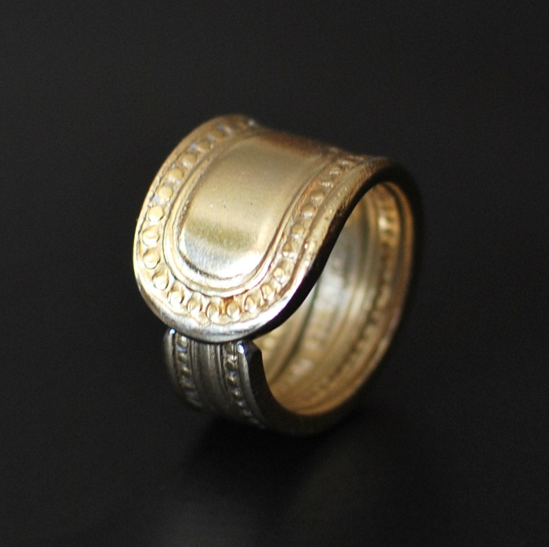 gold spoon ring simple stainless steel nearly any