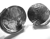 HUGE Modernist Sterling Silver Vintage Clip Earrings. Circa 1980s. Mexico