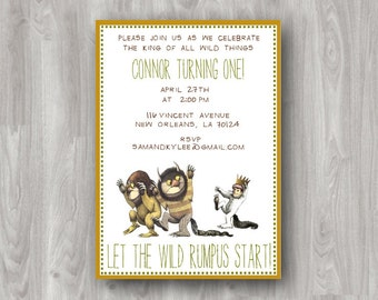 where the wild things are invitation etsy