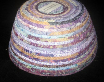Light Purples and Blues Fabric Basket