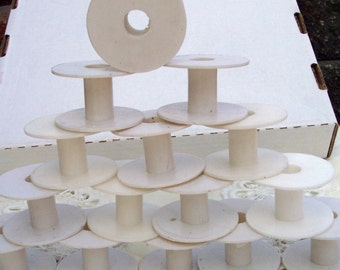 15  Empty Plastic  Ribbon Spools  to store your Ribbons ~SALE~