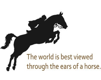 Horse sticker-Quote decal-Horse decal-Vinyl wall decal-22 X 38 inches