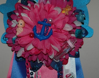 Baby Shower Mum Corsage , Wedding Shower Mum Corsage , Dance Recital Floral  Corsage , Birthday