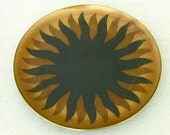 Round Enamel on Copper Sun Plate  by Miguel Pineda