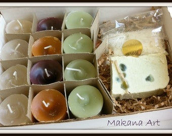 Free Shipping - Handmade Soap and Candle Set