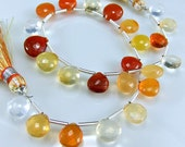 Mexican Fire Opal Briolettes AAA Gemstone Briolettes micro Faceted