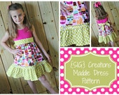 INSTANT Download PDF SIG Maddie Dress Pattern - Upcycle Knit Top to Dress Sizes 0-6 month to 14 Youth/Tween