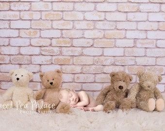 Newborn Baby Child Photography Prop Digital Backdrop for Photographers -Teddy Bears