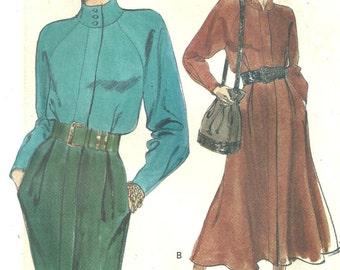 vogue 8134 dress vintage 1991 sz 14 16 18  FF