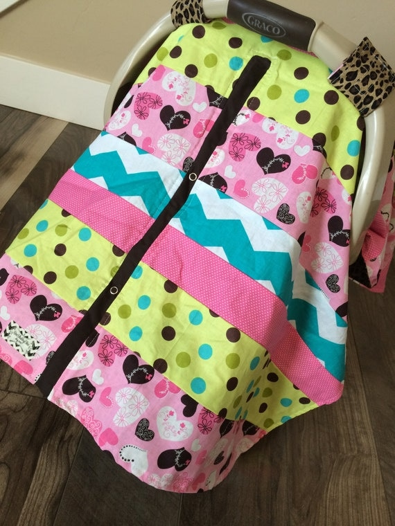 Car Seat Canopy STUNNING OOAK patchwork RTS