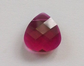 Swarovski Crystal Pendant  Flat Briolette 6012 Crystal Pendant RUBY -- Available in 11mm