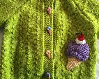 Yummy Ice Cream Cone Sweater
