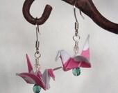 Origami Bird Earrings - Folded Paper