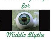 Middie Blythe New Soft Resin OOAK REALISTIC custom eye chips set H19 , by Ana Karina. UV laminated