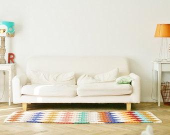 wood & wool boucherouite rug