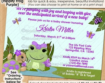 Girls Tropical Garden Turtle Baby Shower Invitations Turtles